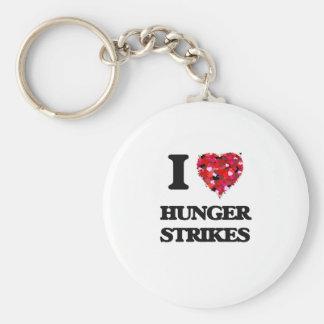 I Love Hunger Strikes Basic Round Button Key Ring