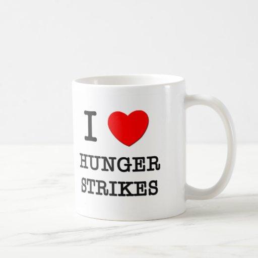 I Love Hunger Strikes Coffee Mugs