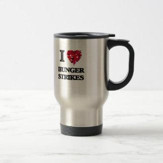 I Love Hunger Strikes Stainless Steel Travel Mug