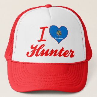 I Love Hunter, Oklahoma Trucker Hat