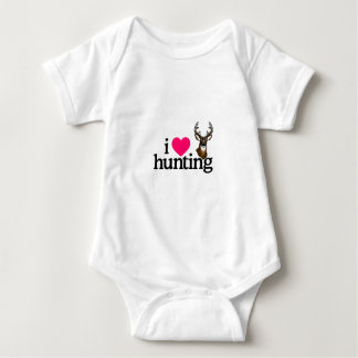 I Love Hunting Baby Bodysuit