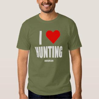 I Love Hunting T Shirts