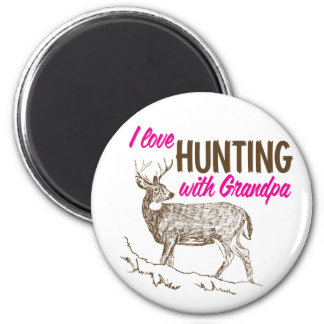 I Love Hunting with Grandpa Magnet