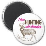 I Love Hunting with Grandpa Refrigerator Magnet
