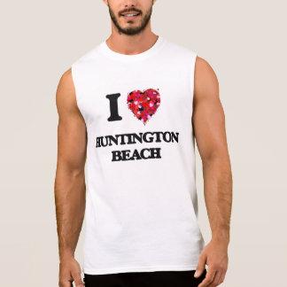 I love Huntington Beach Virginia Sleeveless Shirts