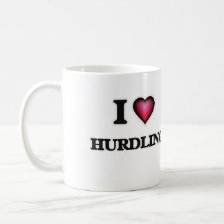 I Love Hurdling Basic White Mug