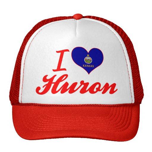 I Love Huron, Kansas Trucker Hats