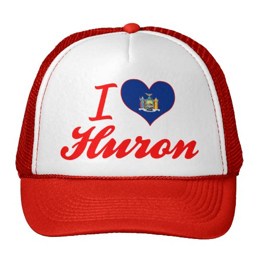 I Love Huron, New York Hats