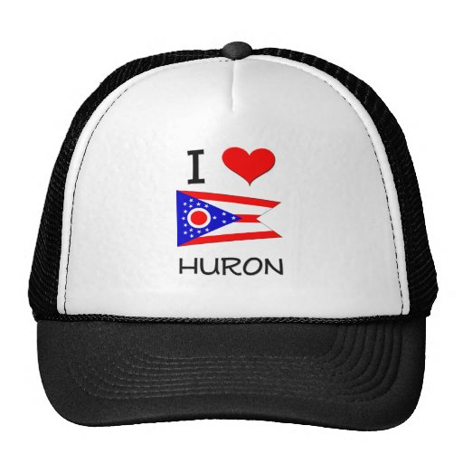 I Love Huron Ohio Trucker Hats