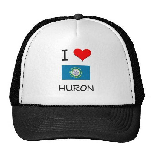 I Love Huron South Dakota Mesh Hat