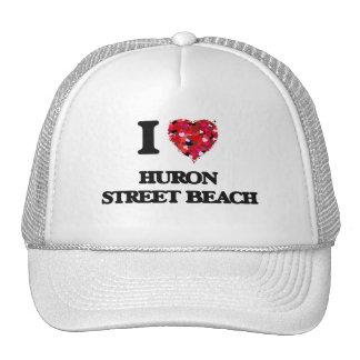 I love Huron Street Beach Michigan Cap