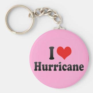 I Love Hurricane Basic Round Button Key Ring