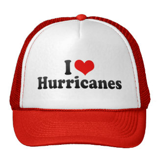 I Love Hurricanes Hats