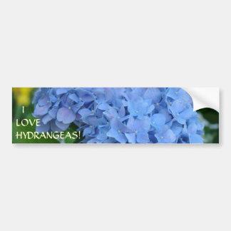 I LOVE HYDRANGEAS! Bumper Sticker Floral Gardener