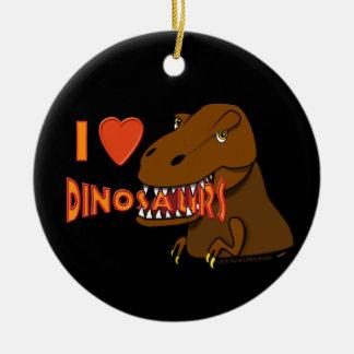 I Love I Heart Dinosaurs Cartoon Tyrranosaurus Rex Christmas Ornament