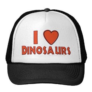 I Love (I Heart) Dinosaurs Dinosaur Lover Red Cap