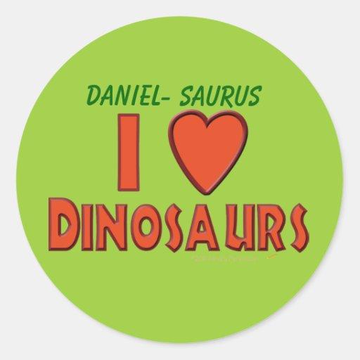 I Love (I Heart) Dinosaurs Dinosaur Lover Red Sticker