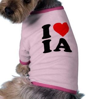 I LOVE IA PET T SHIRT