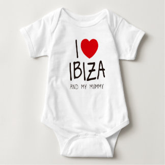 I Love Ibiza and My Mummy Baby Bodysuit