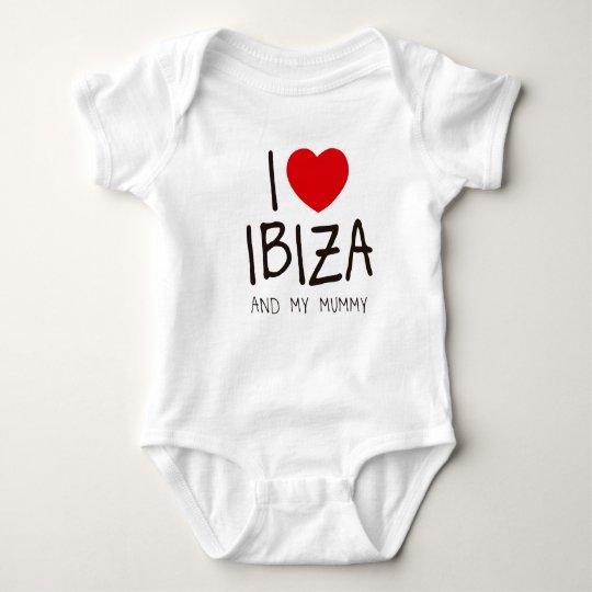 I Love Ibiza and My Mummy Baby Bodysuit