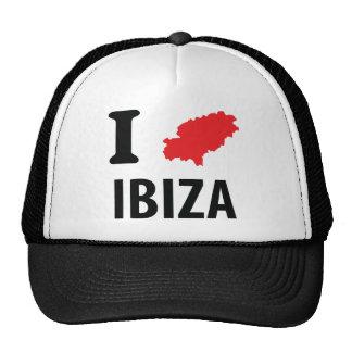 I love Ibiza contour icon Trucker Hats