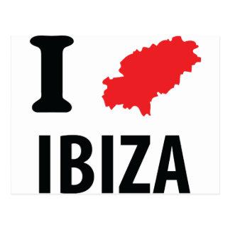 I love Ibiza contour icon Postcard