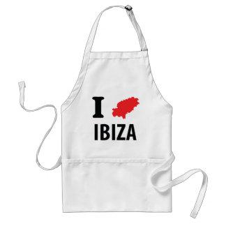 I love Ibiza contour icon Standard Apron