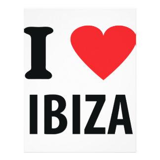I love Ibiza icon 21.5 Cm X 28 Cm Flyer
