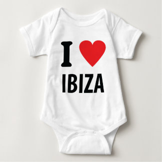 I love Ibiza icon Baby Bodysuit