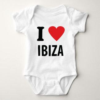 I love Ibiza icon Baby Bodysuit