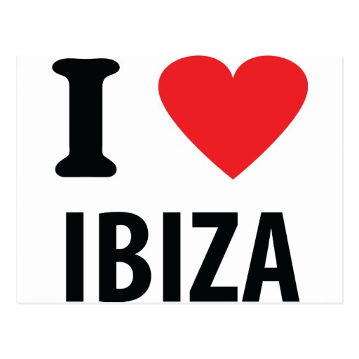 I love Ibiza icon Postcards