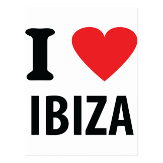 I love Ibiza icon Postcard