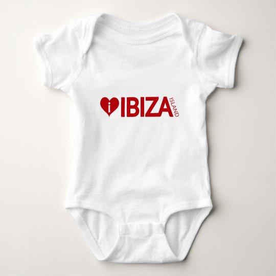 i Love Ibiza Island baby shirt