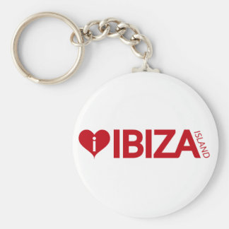 i Love Ibiza Island Original Authentic souvenirs. Basic Round Button Key Ring
