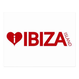 i Love Ibiza Island Original Authentic souvenirs Postcard
