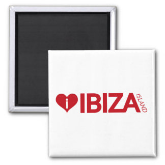 i Love Ibiza Island Original Authentic souvenirs. Square Magnet