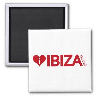 i Love Ibiza Island Original Authentic souvenirs. Square Magnet