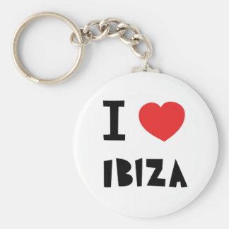 I love Ibiza Basic Round Button Key Ring