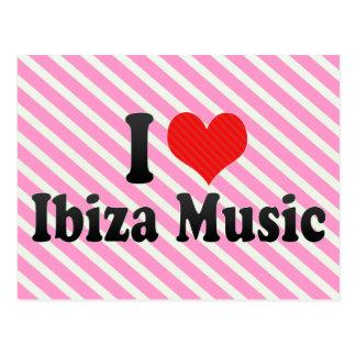 I Love Ibiza Music Post Cards