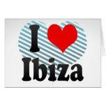 I Love Ibiza, Spain. Me Encanta Ibiza, Spain Greeting Cards