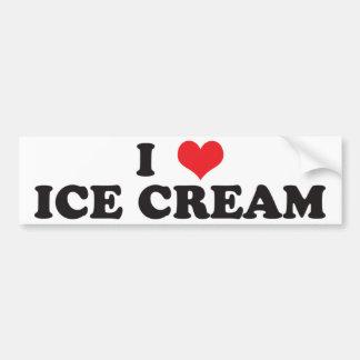 I Love Ice Cream! Bumper Sticker