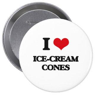 I love Ice-Cream Cones Pins