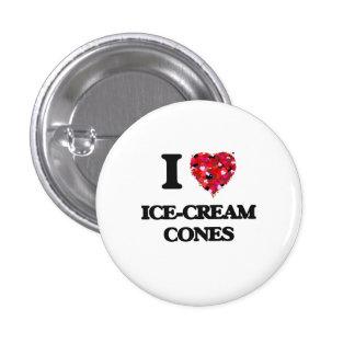 I Love Ice-Cream Cones 3 Cm Round Badge