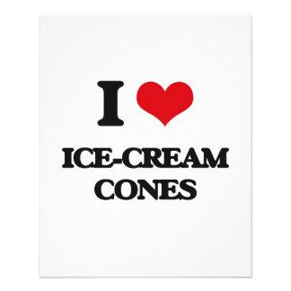 I love Ice-Cream Cones Flyers