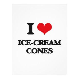I love Ice-Cream Cones Flyer