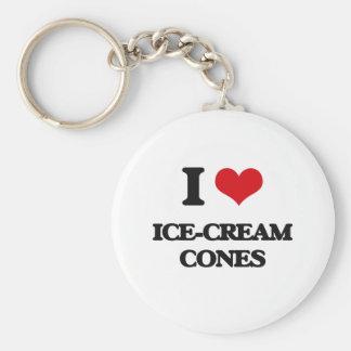 I love Ice-Cream Cones Keychain