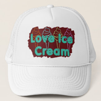 i love ice cream design 2 trucker hat