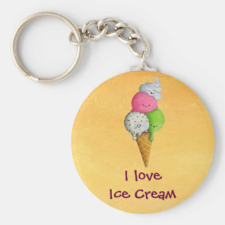 I love Ice Cream Key Ring