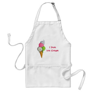 I love Ice Cream Standard Apron