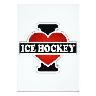 I Love Ice Hockey 13 Cm X 18 Cm Invitation Card